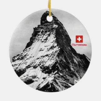 Panoramische Verzierung Matterhorns die Schweiz Keramik Ornament