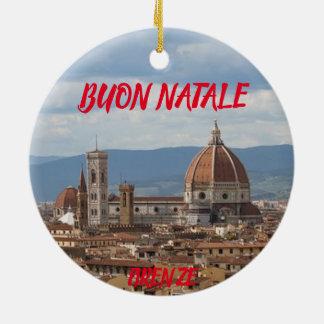 Panoramische Weihnachtsverzierung Florenz Keramik Ornament
