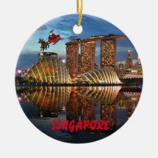 Panoramische Weihnachtsverzierung Singapurs Keramik Ornament
