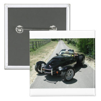 Panoz AIV Roadster Quadratischer Button 5,1 Cm