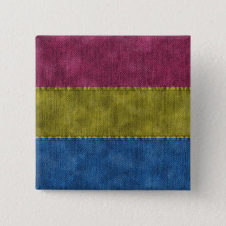 Pansexual Denim-Flagge Quadratischer Button 5,1 Cm