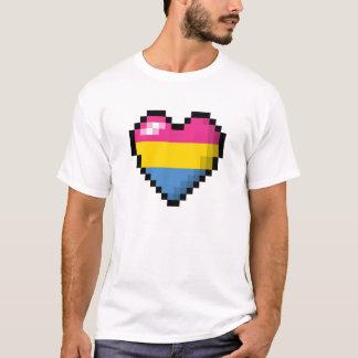 Pansexual Pixel-Herz T-Shirt