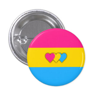 Pansexuality Flaggenknopf Runder Button 3,2 Cm