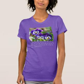 Pansy-Blume u. Scripture-kundengerechter T - Shirt