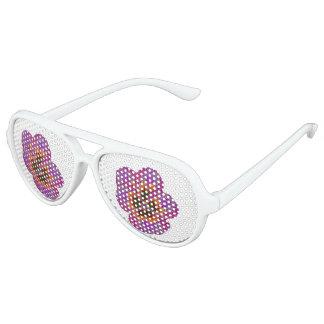 Pansy-Blumen-psychedelisches abstraktes Partybrille