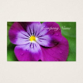 Pansy-Blumen-Wildblume-lila Blumen Visitenkarte