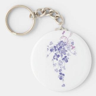 Pansy-Blumenstrauß - Schlüsselkette Standard Runder Schlüsselanhänger