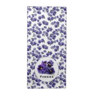 Pansy-Serviette mit Detail Stoffserviette