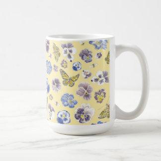 Pansy-und Schmetterlings-Tasse Kaffeetasse