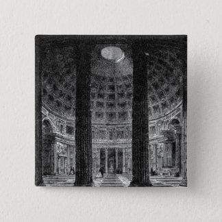 Pantheon Quadratischer Button 5,1 Cm