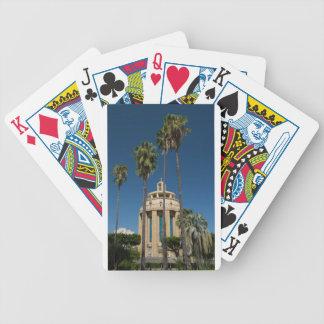 Pantheon, Syrakus, Sizilien, Italien Bicycle Spielkarten