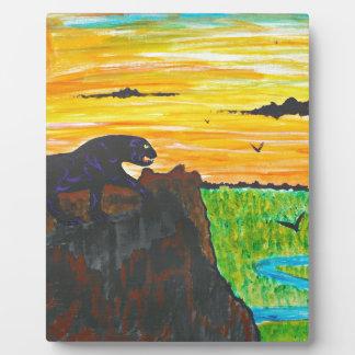 Panther auf dem Prowl Fotoplatte