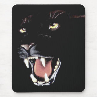 Panther-Gesichts-wild lebende Tiere Mousepad