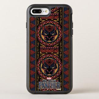Panther-Kopf-Stammes- Muster des schwarzen OtterBox Symmetry iPhone 8 Plus/7 Plus Hülle
