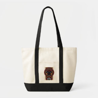 Panther-Kopf-Stammes- Muster des schwarzen Tragetasche
