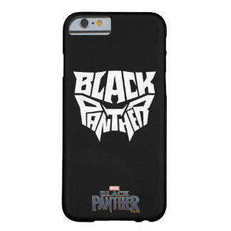 Panther-Kopf-Typografie-Grafik des schwarzen Barely There iPhone 6 Hülle