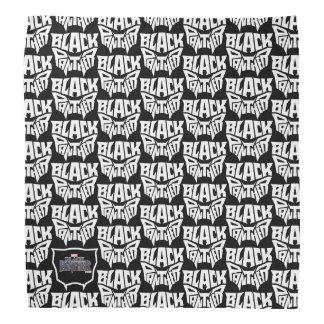 Panther-Kopf-Typografie-Grafik des schwarzen Halstuch