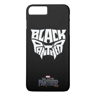 Panther-Kopf-Typografie-Grafik des schwarzen iPhone 8 Plus/7 Plus Hülle