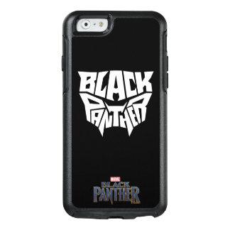 Panther-Kopf-Typografie-Grafik des schwarzen OtterBox iPhone 6/6s Hülle