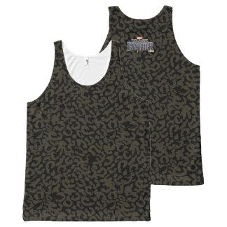 Panther-Muster des schwarzen Panther-  Erik Komplett Bedrucktes Tanktop