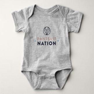 Pantsuit-Nations-Baby-Spielanzug, Heide-Grau Baby Strampler