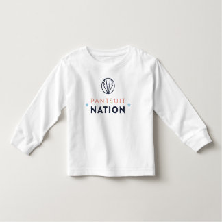 Pantsuit-Nations-Kleinkind-langes Hülsen-Shirt Kleinkind T-shirt