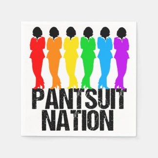 Pantsuit-Nations-Regenbogen-Frauen Serviette