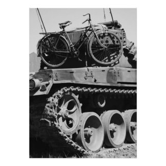 Panzer Fahrrad Plakate
