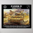 Panzer IV Behälter-Plakat Poster