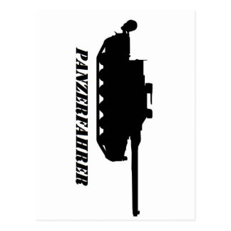 panzerfahrer postkarte