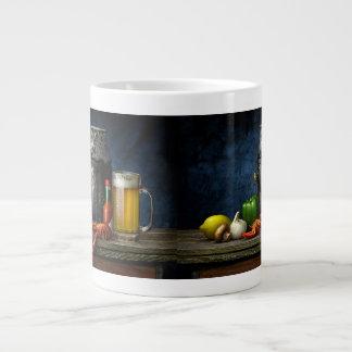 Panzerkrebs-u. Bier-Kaffee-Tasse Jumbo-Tasse