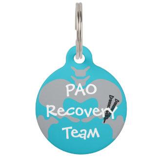 PAO Erholungs-Team-Hundeplakette - groß Tiermarke