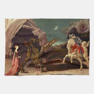 PAOLO UCCELLO - St George und der Drache 1470 Handtuch
