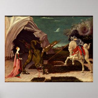 PAOLO UCCELLO - St George und der Drache 1470 Poster