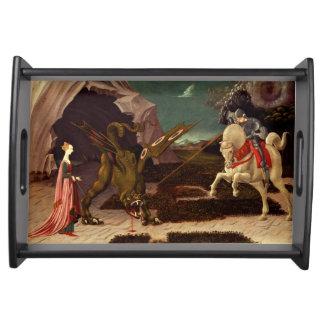 PAOLO UCCELLO - St George und der Drache 1470 Serviertablett