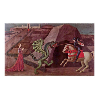 Paolo Uccello - St George und der Drache Poster