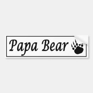 Papa-Bär. Autoaufkleberabziehbild mit Bärentatze Autoaufkleber
