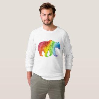 Papa-Bärn-Aquarell-Familien-Stolz-Sweatshirt Sweatshirt