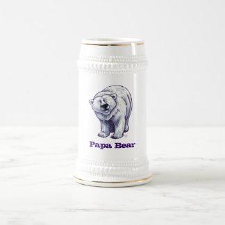 Papa-Bärn-Eisbär Stein Bierkrug