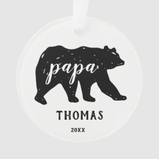 Papa-Bärn-Familien-moderne Weihnachtsverzierungen Ornament