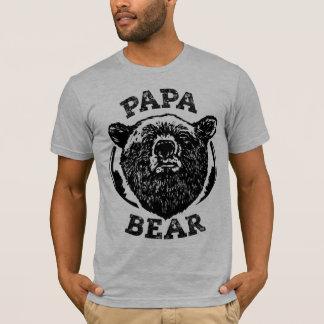 """Papa-Bärn-"" Vintages Art-schwarzer T-Shirt"