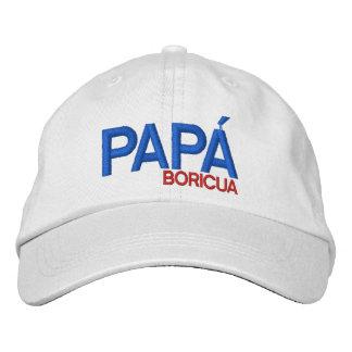 Papa Boricua: Puerto Rico Bestickte Kappe