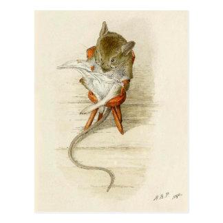 Papa-Mäuselesezeitung Postkarte