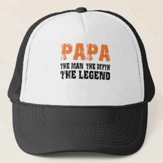 Papa (orange) truckerkappe