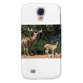 Papa-Rotwild schützt Baby-Kitz Galaxy S4 Hülle