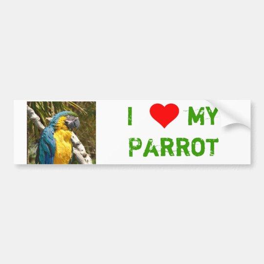Papagei Autoaufkleber