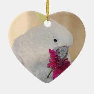 Papagei er Lieben ich oder nicht Keramik Herz-Ornament