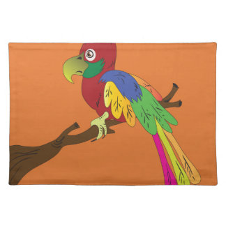 Papagei Stofftischset