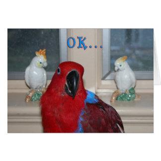 Papagei themenorientiert karte