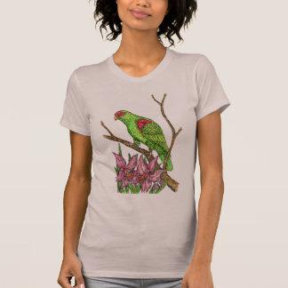 Papagei und Orchideen T-Shirt